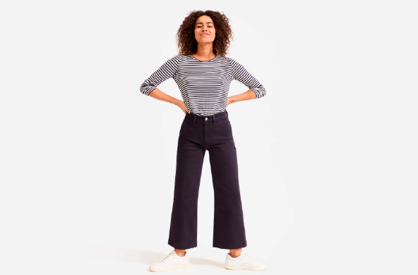 The Wide Leg Crop Pant, $72 by Everlane