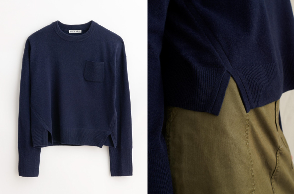 opped Pocket Sweater, $98 by Alex Mill